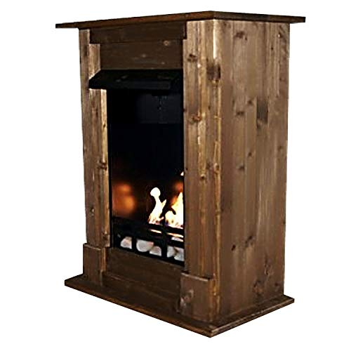 Gel + Ethanol Fireplace Madrid Deluxe - Choose from 9 colors (Oak)