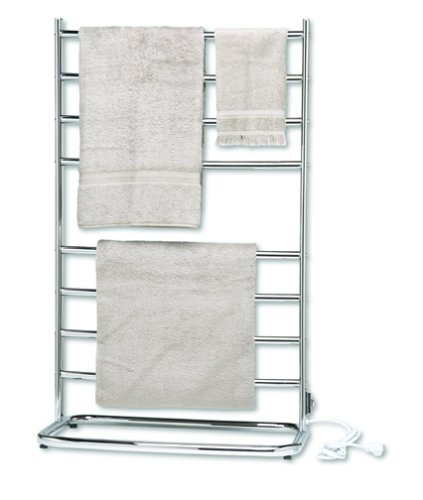 Warmrails WHC Hyde Park Family Size Floor Standing Towel Warmer, Chrome Finish (Renewed)