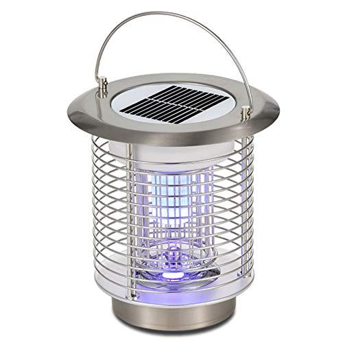 MeetUs Solar Power Mosquito Lamp Indoor Outdoor Electronic Bug Catcher with Hook to Hangable,Effect 80 sq. Ft, for Home Bedroom Garage Kitchen Office Restaurant Hotel