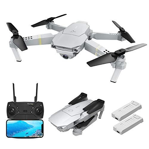 EACHINE E58 PRO Drone con Telecamera HD 1080P Pieghevole WiFi FPV App Mobile Controllo Grandangolare Selfie Drone modalità di Attesa in Altitudine Versione Aggiornata ( Due batterie)
