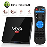 Android 9.0 TV Box BT4.1 [4GB RAM+64GB ROM] Boîtier TV 3D+4K [2020...