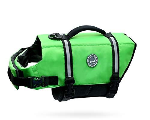 Vivaglory Ripstop Dog Life Vest, Reflective Dog...