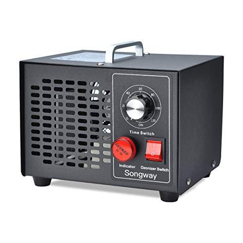 Sterilizzatore d'aria per rimozione odori generatore di ozono commerciale Songway, 3500mg / h per casa, cucina, auto, garage, autobus, barca, ristorante, negozio, purificatore d'aria - Spina UE