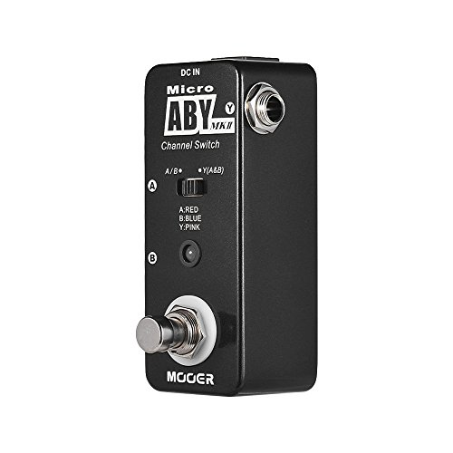Leepesx ABY MKII Channel Switch Guitar Effect Pedal True Bypass Full Metal Shell