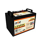 reBel Batteries Metal-Cased 100ah Lithium Battery - LiFePO4 12V 100Ah Battery - Group 31 Deep Cycle Battery - RV Battery and Solar Battery - Lithium Iron Phosphate Battery with Bluetooth BMS