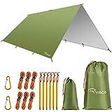 Ryaco Bâche Anti-Pluie, Camping Bâche Rain Tarp Toile de Tente Imperméable Abri de Randonnée...