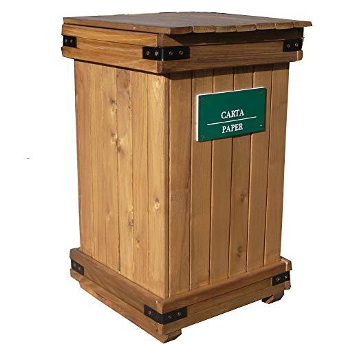 Wood Box, Contenitore in Legno Raccolta differenziata, LT 112, H74X44X44. per la Fornitura della...