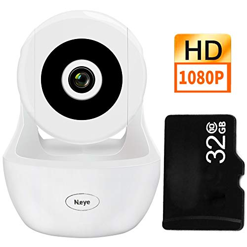 Wireless WiFi Camera, 1080P HD Wireless Night Vision Camera, Pet Monitoring Baby Camera, Built-in 32G Memory CardCloud Service, Remote Detect for iOS/Android