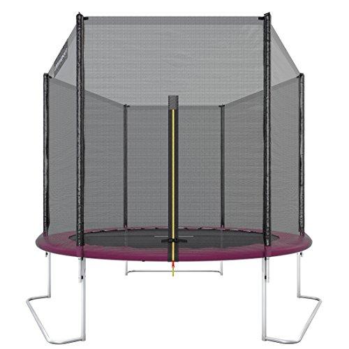 Ultrasport Outdoor Gartentrampolin Jumper,TÜV Nord GS Zertifizierung, Trampolin Komplettset inklusive Sprungmatte, Sicherheitsnetz, gepolsterten Netzpfosten und Randabdeckung