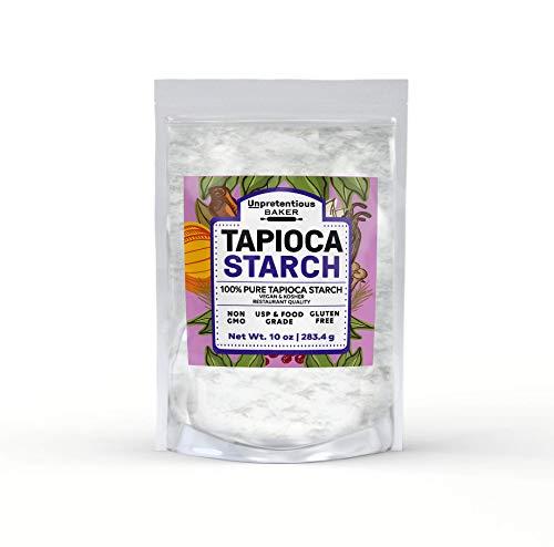 Tapioca Starch, 10 oz., Also Called Tapioca Flour, Gluten Free, Vegan, Cornstarch Replacement, Thickener, Gluten Free Baking, Resealable Bag