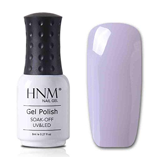 HNM Gel Nail Polish Soak Off Varnish Lacquer UV LED Manicure Nail Art Salon 8ml Shiny Nude Color Series (024)
