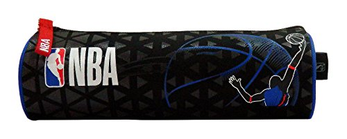 La Plume Dorée - Astuccio rotondo NBA unisex, per bambini, colore: Nero