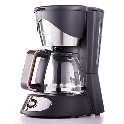 CRUX 5-Cup Coffee Maker with Reusable...