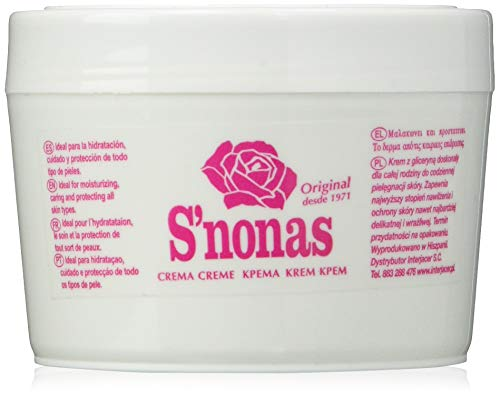 S´Nonas S'Nonas Crema Hidratante Glicerinada Manos, 250 ml, Pack de 1