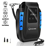 OneAmg Compresseur d'Air Portatif 12V, Compresseur Voiture d'air Digital...