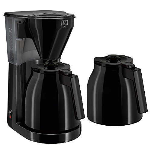 Melitta Easy Therm 1010-06, Filterkaffeemaschine inkl. 2 Thermkannen, Kompaktes Design, Schwarz