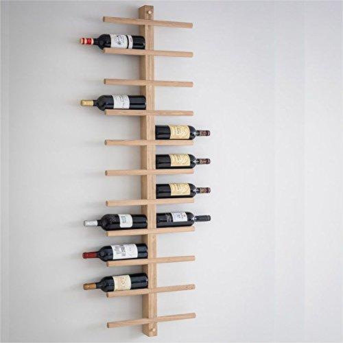 Ckb Ltd, porta bottiglie deluxe da parete, per 22bottiglie di vino, rastrelliera in legno di...