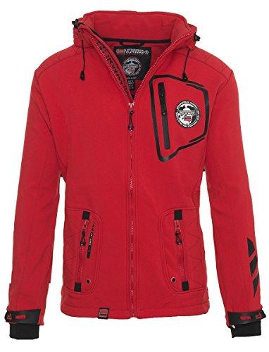 Geographical Norway,Giacca da sci, da uomo, in softshell, impermeabile, adatta per lo sport Rot S