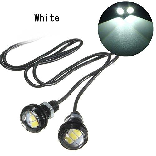 Ungfu Mall, 2 luci decorative a LED 5630 da 12 V/10 W, per fari, luci retromarcia e interno portiera, per auto e moto