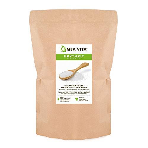MeaVita Eritritolo, dolcificante senza calorie, confezione da 1 (1x 1000 g) nella borsa