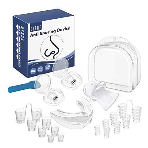 Dyroe Dispositivos Anti Ronquidos 4 in 1,8pcs Dilatador Nasa