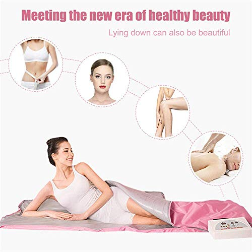INLOVEARTS Far-Infrared (FIR) Sauna Blanket, 2 Zone Weight Loss Body Shaper Professional Detox Therapy Anti Ageing Beauty Machine (with Remote Control) 3