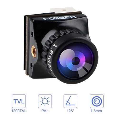 Foxeer Razer Nano FPV Camera 1200TVL 1.8mm Obiettivo 1 / 3inch CMOS Cam 4: 3 FOV 125 Gradi Pal Bassa...