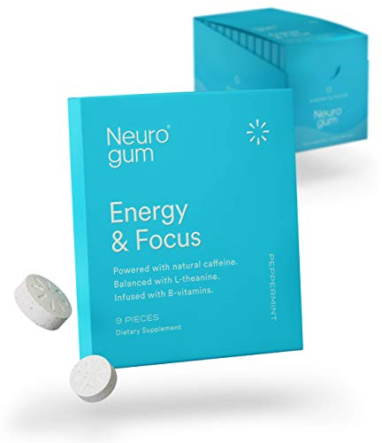 NeuroGum Nootropic Energy Gum | Caffeine + L-theanine + B Vitamins | Sugar Free + Gluten Free + Non GMO + Vegan | Enlighten Mint Flavor (108 Count) 1