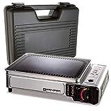 Plancha gaz portable 2300W Kemper plaque anti adhésive + Valise de...