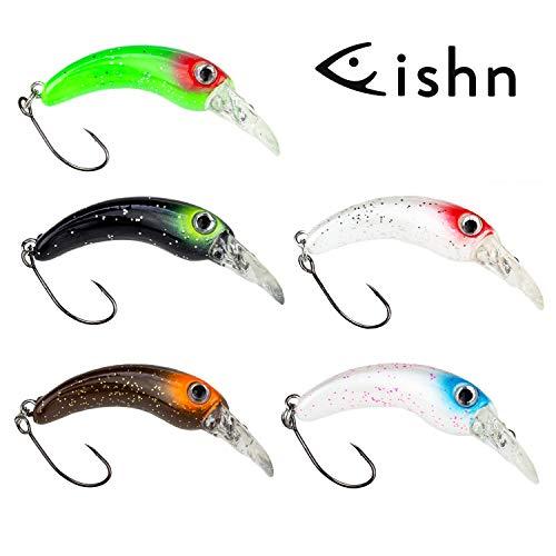 FISHN Fishy Set di Wobbler di Trota - Dimensioni 4 cm, Peso 1,3 g, Esche da Trota, Pozzi di Trota, Lampone di Trota, Esca di Trota per la Pesca di trote, salmerini e persici - Spin Fishing (5x)