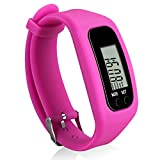 Bomxy Fitness Tracker Watch, Simply Operation Walking Running Pedometer with Calorie Burning and Steps Counting (313-rose red)