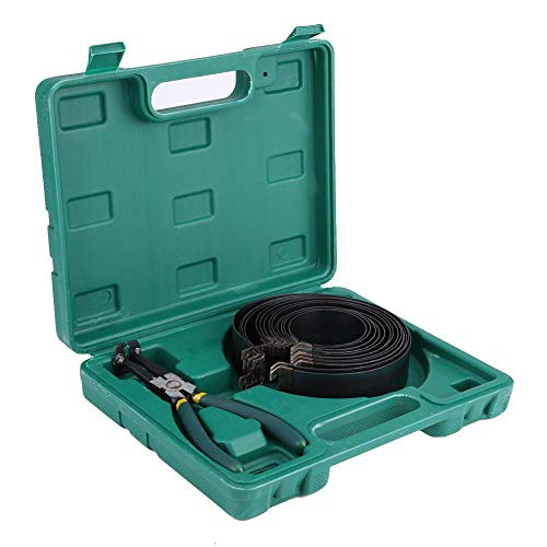Aramox Set compressore a pistone, Set di pinze per compressori per Fasce Elastiche del Motore Automatico Kit di Strumenti di Riparazione Acciaio al Manganese e Ferro