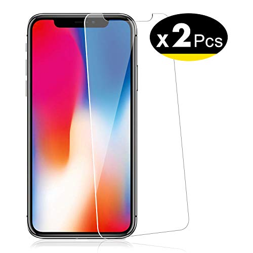 NEW'C 2 Pezzi, Vetro Temperato per iPhone 11 PRO, iPhone X, iPhone XS, Pellicola Prottetiva Anti Graffio, Anti-Impronte, Senza Bolle, Durezza 9H, 0,33mm Ultra Trasparente, Ultra Resistente