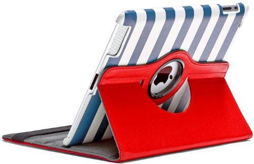 Aduro ROTATA 360 Degrees Rotating Case Cover Folio w/Stand for Apple iPad 2/3 / 4 Generation (Cabana)