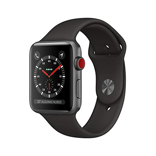 Apple Watch Series 3 (GPS + Cellular) con cassa 42 mm in alluminio grigio siderale e Apple Watch Cinturino Sport nero