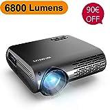 Vidéoprojecteur, WiMiUS 6800 Lumens Vidéo Projecteur Full HD 1920x1080P Natif...