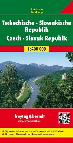 República Checa y Eslovaquia, mapa de carreteras. Escala 1:400.000. Freytag & Berndt.: Wegenkaart 1
