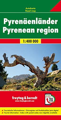 Los Pirineos, mapa de carreteras. Escala 1:400.000. Freytag & Berndt.: Wegenkaart 1:400 000 (Auto ka