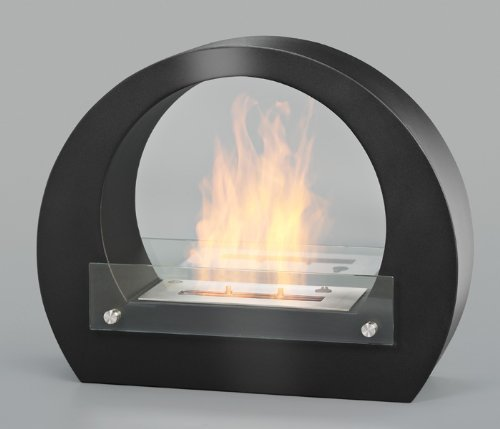 Clic and get Amsterdam Gel Fireplace Bio Ethanol Wall Fireplace cheminée Fireplace, Black, KAMS06