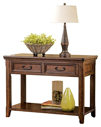 Signature Design by Ashley Woodboro Traditional Console Sofa Table, Dark Brown