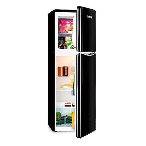 Klarstein Monroe XL Black - Frigorifero Combinato, Frigo 97 Litri, Freezer 39 Litri, Classe A+, 5...