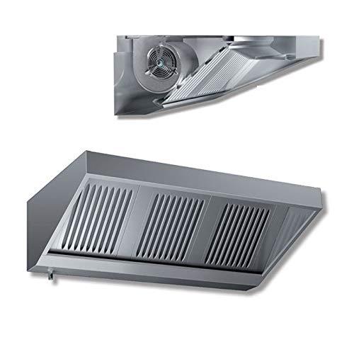 Cappa aspirante Snack con motore - schiena e tetto in lamiera zincata - prof. 70 cm - 160x70x45H