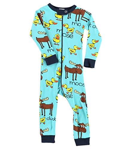 LazyOne Jungen Duck Duck Moose Kinder Sleepsuit 6 Monate