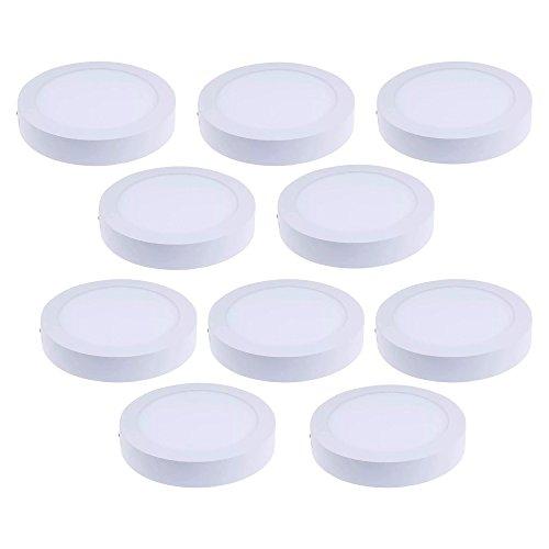 Lampara Sobreponer Plafon Led 12w Luz Blanca Paquete 10 Piezas