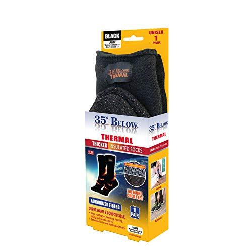 35 Degrees Below Thermal Socks (X-Large, Black)