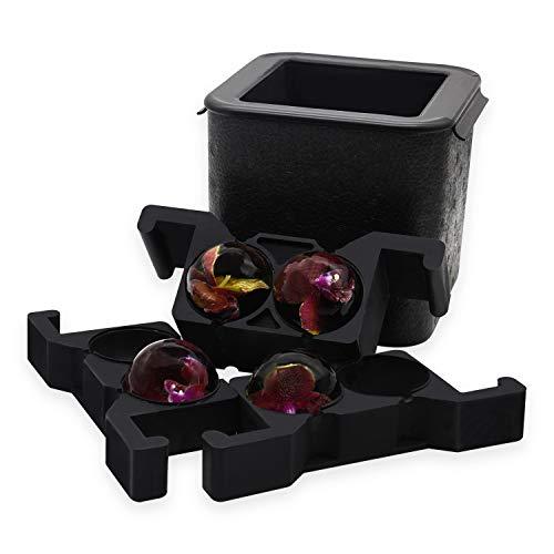 Macchina per palline di ghiaccio trasparente per cubetti di ghiaccio, con una capacit di 2,36 pollici, per cocktail e bevande a casa (4BALL)