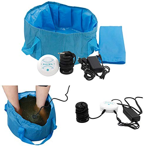 Ionic Detox Foot Spa Bath Machine Portable Footbath Spa Ion Detox Basin Array for Home Feet Spa Indoor Outdoor with Foot Bath Bag Massage sdyfu