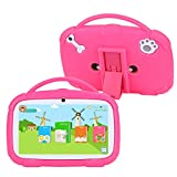SANNUO Kids Tablet 7 inch,GMS-Certified Android 9.0 and Kids-Mode Dual System,Quad Core,1GB RAM,16GB ROM,Dual Camera,Full HD Screen,Google Play and Learning App for Children.