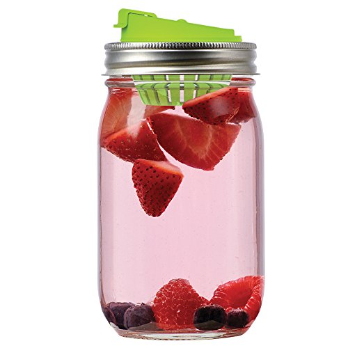 Jarware Fruit Infusion Lid for Regular Mouth Mason Jars, Green