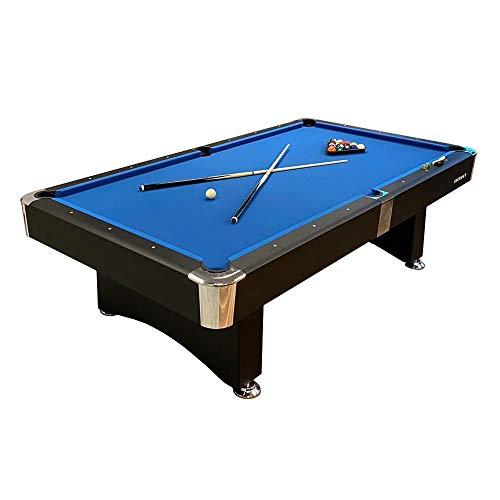 BuckShot Billardtisch 8ft Manhattan - 244 x 132 x 80 cm - 8 Fuß Pool Billard - Kugelrücklauf - Tischbillard mit Zubehör - Billard Tische 130 kg